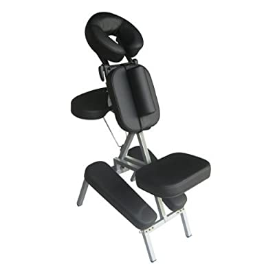 Sivan Health and Fitness Portable Massage Folding Chair, Black