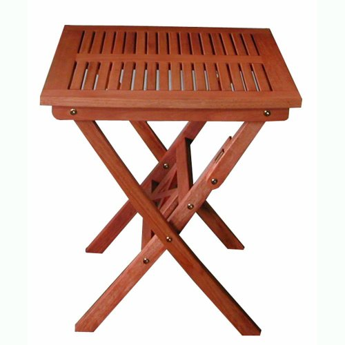 VIFAH V03 Outdoor Wood Folding Bistro Table,Natural Wood Finish, 24 by 24 by 28-Inch image