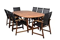 Hot Sale Amazonia Bahamas 9-Piece Eucalyptus Oval Dining Set