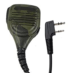 IFeng® 2 PIN Camouflage Handheld Speaker Mic for QUANSHENG PUXING WOUXUN HYT TYT BAOFENG BF-V6 BF-V7 BF-V8 BF-658 BF-520 KENWOOD KPG69D KPG70D TH41BT TH-42 Radio