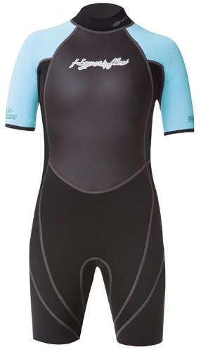 Hyperflex Wetsuits Children's Access Spring Suit, Black/Light Blue, 4 - Surfing, Windsurfing & Wakeboarding