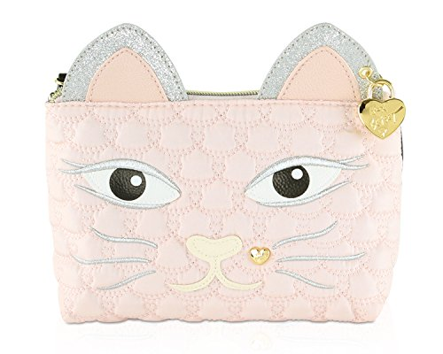 Betsey Johnson Cosmo Kitty Kitch Cosmetic Case - Stripe