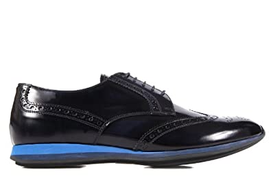 Prada men's classic leather lace up laced formal shoes derby blu US size 10.5 2EE113 P39 F0008