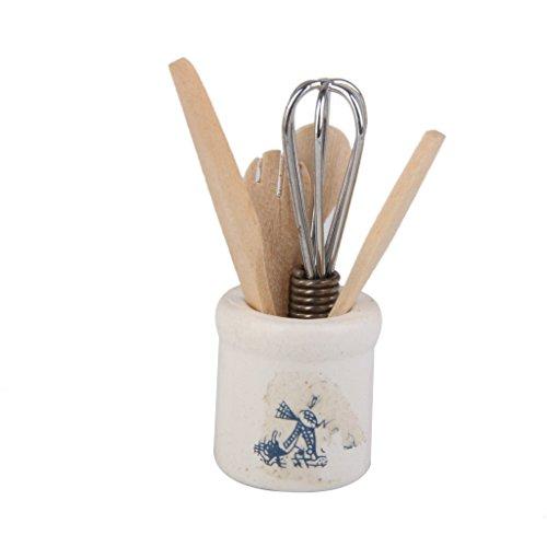 Couteau Cuillère Fourchette Fouet à Oeufs Miniature pour 1/12 Cuisine Maison de Poupée