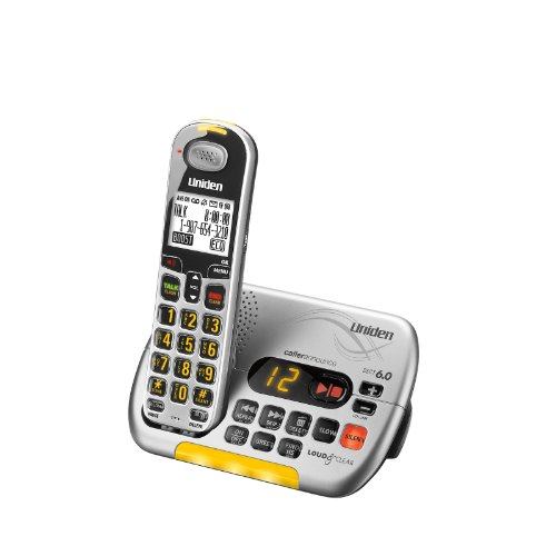 D3097S Dect 6.0 Cordless Phone With Caller Id Answering System, Silver, 1 Handset