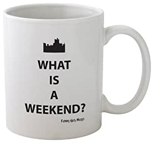 Amazon.com: Funny Guy Mugs What Is a Weekend? Ceramic ...