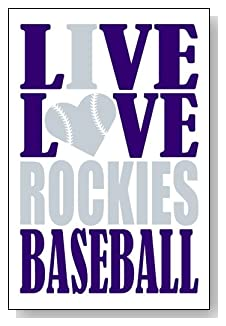 Live Love I Heart Rockies Baseball lined journal - any occasion gift idea for Colorado Rockies fans from WriteDrawDesign.com