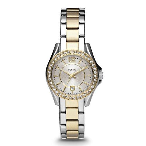 Fossil Ladies Dress ES2880 - Reloj para mujeres, correa de acero inoxidable multicolor