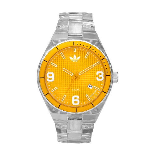 Adidas Originals Unisex Cambridge Analogue Watch - ADH2510 With 44mm Yellow Dial