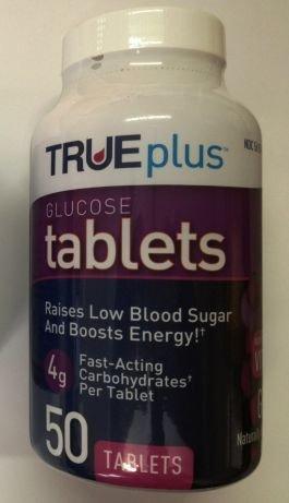 True Plus Glucose Tablets 50 Count Bottle - Grape