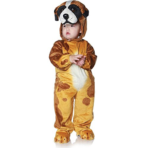[Underwraps Costumes Baby's Dog, Brown/Tan/White/Black, X-Large] (Family Halloween Costumes With Baby And Dog)
