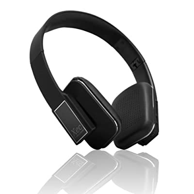 RevJams Xec On Ear HD Wireless Bluetooth Stereo Headphones with In-line Microphone, Black