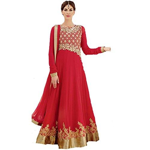 Fascinate Red Color Floor Length Anarkali Suit