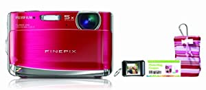 Fujifilm FinePix Z70 12 MP Digital Camera with 5x Optical Zoom and 2.7-Inch LCD Photo Bundle (Berry)