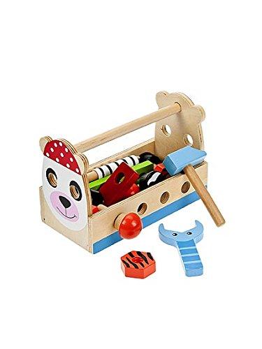 Jeu d'Imitation Bricolage en bois boîte à outils jouet enfant garçons et filles