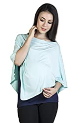 Blush 9 Maternity Womens Maternity Nursing Top (Mint Blue _Free)