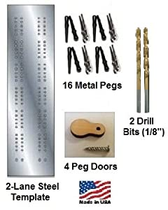 Cribbage Board 2-lane Steel Template Starter Kit