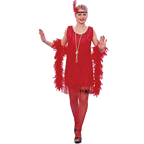 Adult Roaring 20s Red Flapper Costume (Size: 8-12)