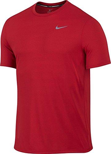 Nike Mens Dri-Fit Contour Short Sleeve - Small - University Red