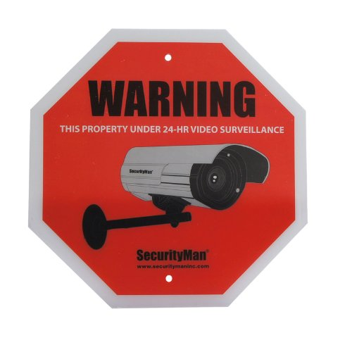 Buy Discount SecurityMan SIGN2PK-EN Surveillance Camera with Warning Sign in English (2 pack)
