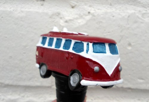 VW Campervan Bottle Stopper in Red