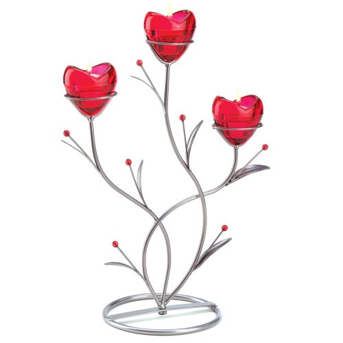 Valentines budget gifts decor ruby red heart bouquet
