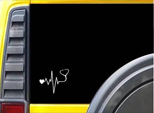 Stethoscope-Doctor-Nurse-Heart-J772-6-Decal-Bumper-Sticker-heartbeat-lifeline