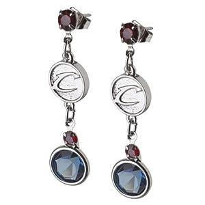 Logoart Cleveland Cavaliers Crystal Earrings by LogoArt