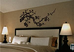Asian Japanese Cherry Blossom Branch Vinyl Wall Art Decal from The Custom Vinyl Shop