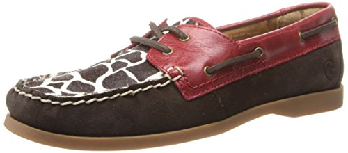 Ariat Women's Palisade Boat Shoe,Giraffe/Ruby,8.5 M US