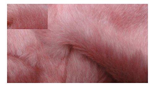 Fabrics-City Rosa Melange Zambaiti-Pelo Lungo Pelliccia Ecologica sostanze in finta pelliccia Tessuto al metro, 3135
