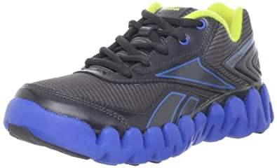 Reebok Zigactivate Running Shoe (Little Kid/Big Kid),Athletic/Gravel/Blue Sun,5.5 M US Big Kid