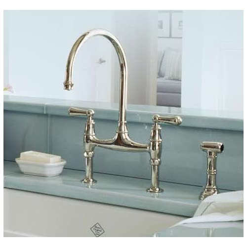 Rohl U 4719l 2 Perrin And Rowe Low Lead Bridge Kitchen Faucet With Side Spray Wi Inca Brass Riripatrasusa