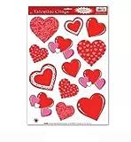 Valentine Heart Clings 12in. x 17in. Sheet 1/Pkg