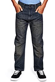 Bow Fit Washed Look Jeans [T87-6035M-S]