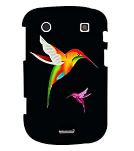 Fuson Premium Colorful Birds Printed Hard Plastic Back Case Cover for Blackberry Bold 9900