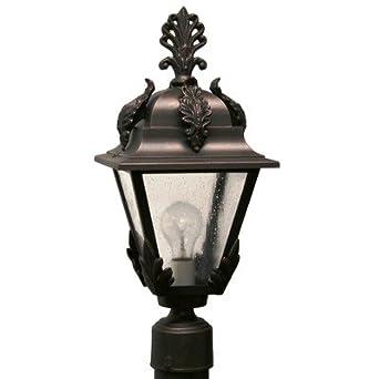 "Parisian PE1700 Series 19"" Post Lantern Finish: Architectural Bronze"