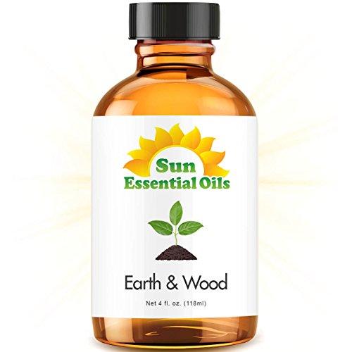 Earth & Wood Blend - Large 4 ounce Best Essential Oil (Compare to Edens Garden Earth & Wood) (Cardamom, Cedarleaf, Cedarwood, Fir Needle, Patchouli and Sandalwood)