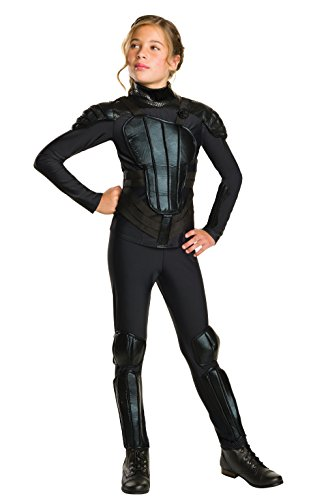 "Rubie's Costume ""Rebel"" Mockingjay Part 1 The Hunger Games Deluxe Katniss Costume, Medium, One Color"
