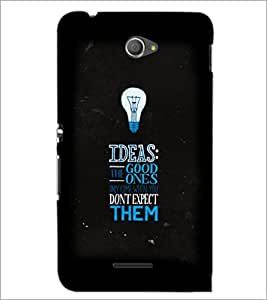 PrintDhaba Quote D-3817 Back Case Cover for SONY XPERIA E4 (Multi-Coloured)