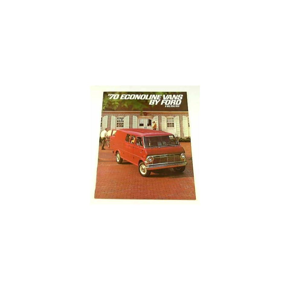 1970 70 Ford ECONOLINE Van BROCHURE E100 E200 E300
