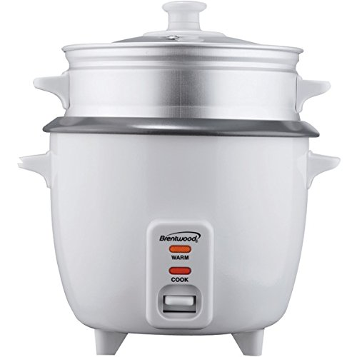 Brentwood Ts-600S 5-Cup Rice Cooker With Steamer front-382718