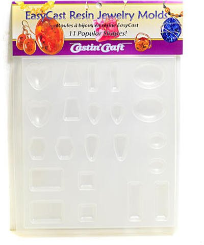 Castin 39 craft easycast resin jewelry molds tray of 11 for Castin craft clear resin