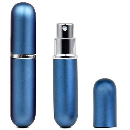 SODIAL (R) Facile riempire profumo riutilizzabile Viaggi Atomizzatore Pompa bottiglia dello spruzzo / Viaggi / borsa - blu