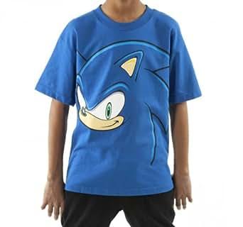 Amazon Com Ts144371segyt18o Youth Sonic The Hedgehog Face
