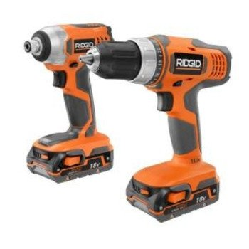 Factory-Reconditioned Ridgid ZRR96862SB 18V Cordless Lithium-Ion Drill/Impact Driver Combo Kit