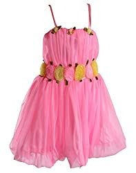 Motley Girls' Dress (2-3-508_Pink_2-3 years)