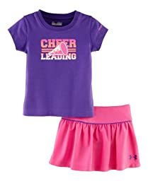 Under Armour Baby Girls\' Cheerleading Baselayer Set, Chaos/Pride, 12 Months