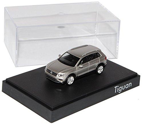 VW-Volkswagen-Tiguan-II-Tungsten-Silber-2-Generation-Ab-2015-H0-187-Herpa-Modell-Auto-mit-individiuellem-Wunschkennzeichen