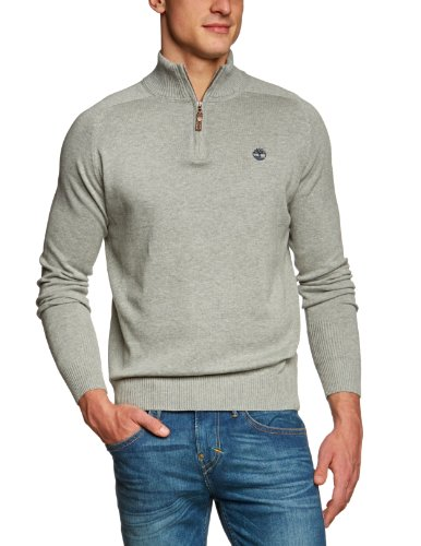 Timberland Clothing 12gg LW Cotton 1/2 Zip Men's Jumper Medium Grey Heather (MGH) Medium